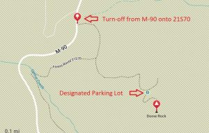 Dome-Rock-Trailhead-Sequoia-National-Forest-California