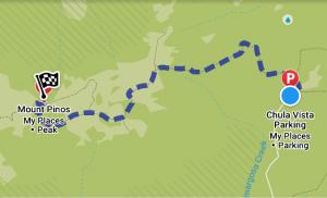 Mount-Pinos-Hiking-Map